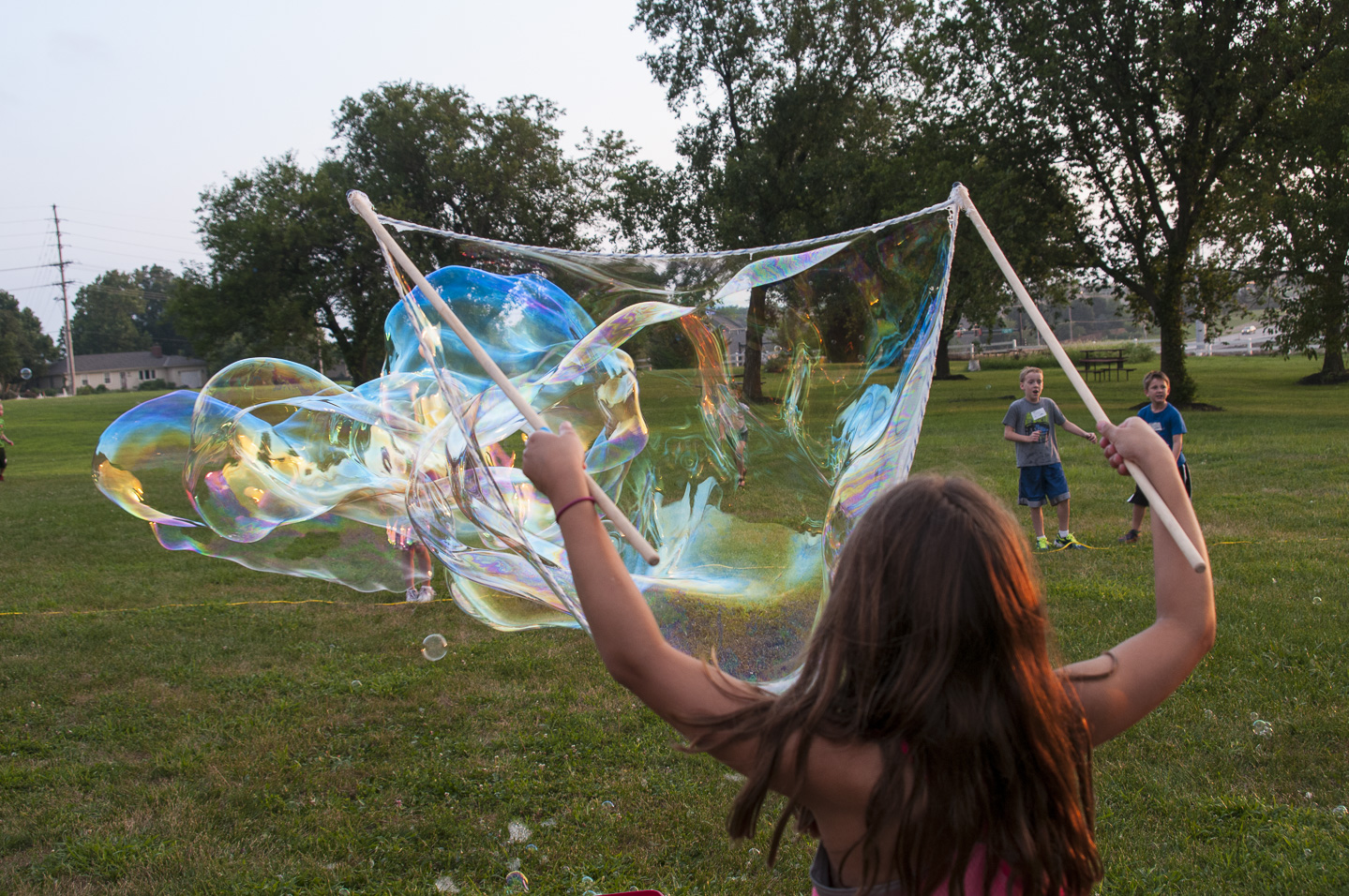 "36"" Tri-String at children's camp"