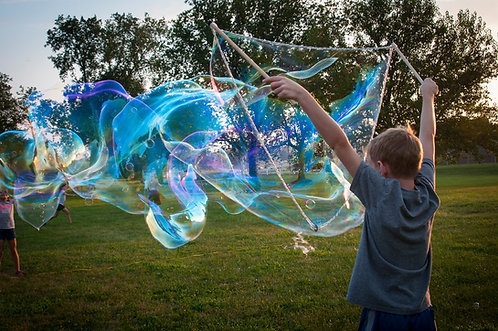 """Small Bubble Wand (30"""" top rope  on 18"""" sticks)"""