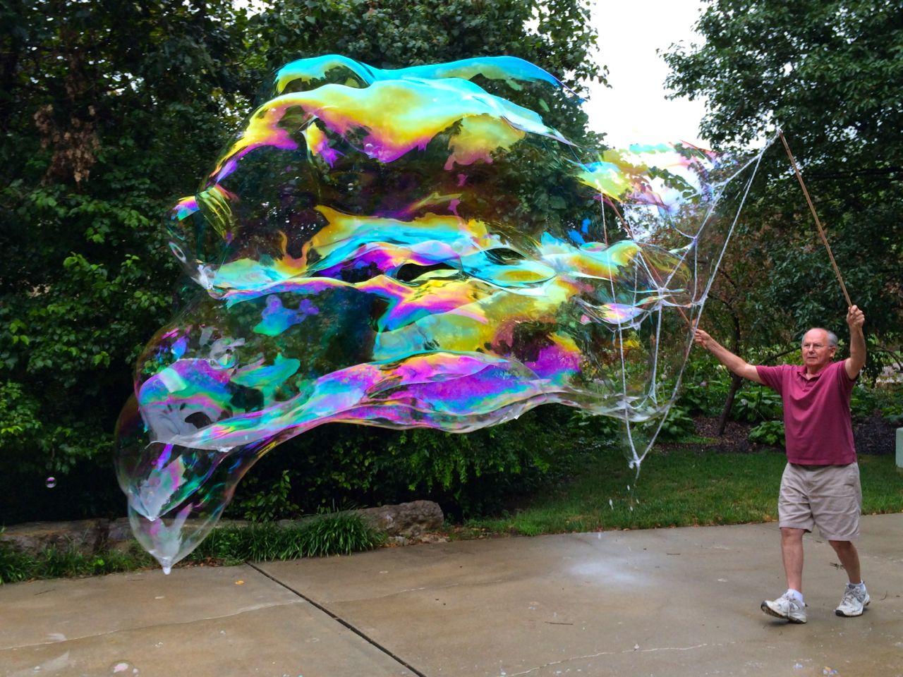 Custom made net for bubbles