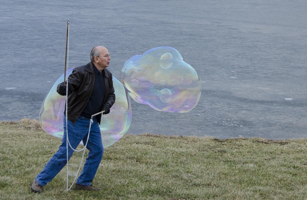 Bubbles in a bubble @ 27º F