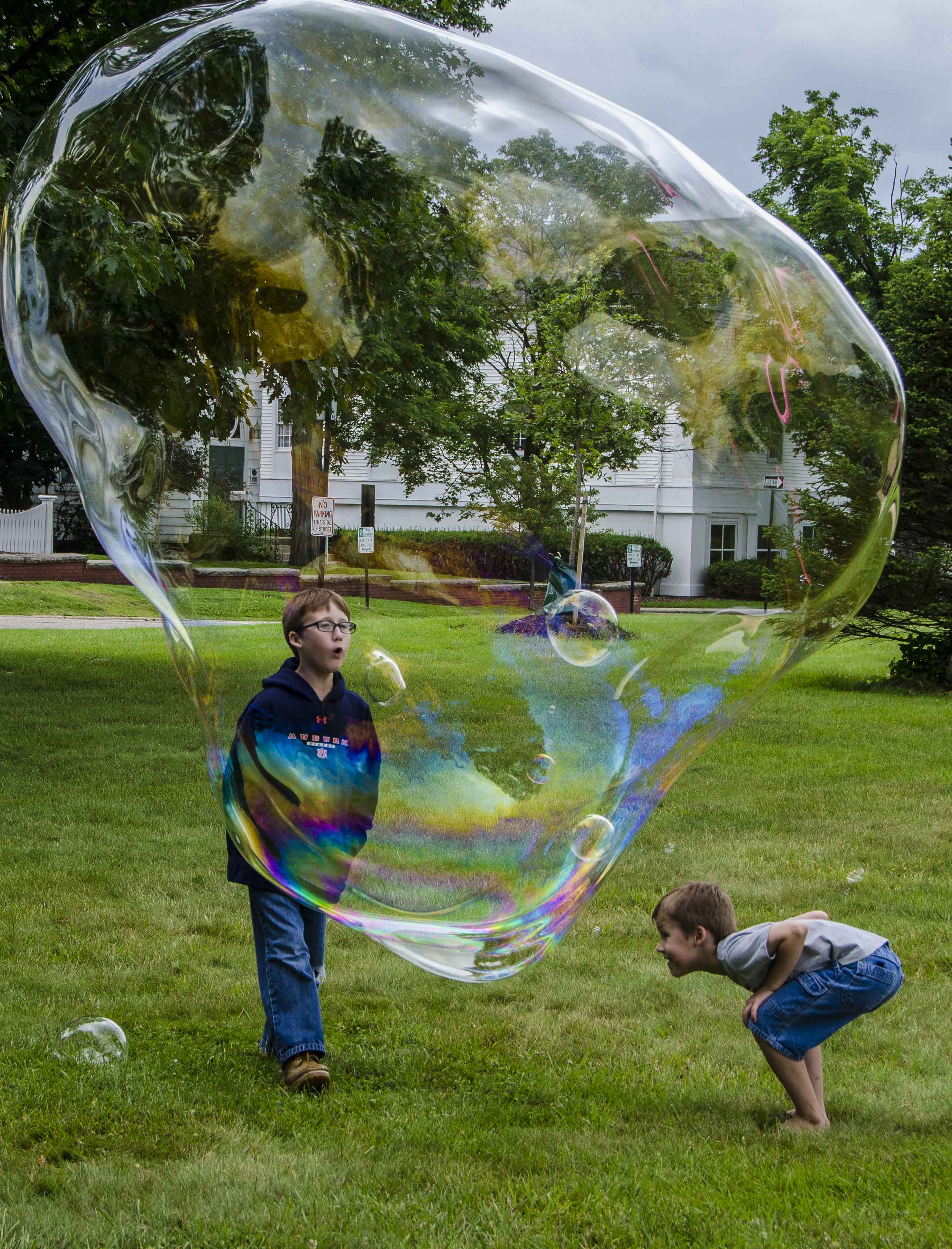 Blowing bubbles inside bubble, Ohio