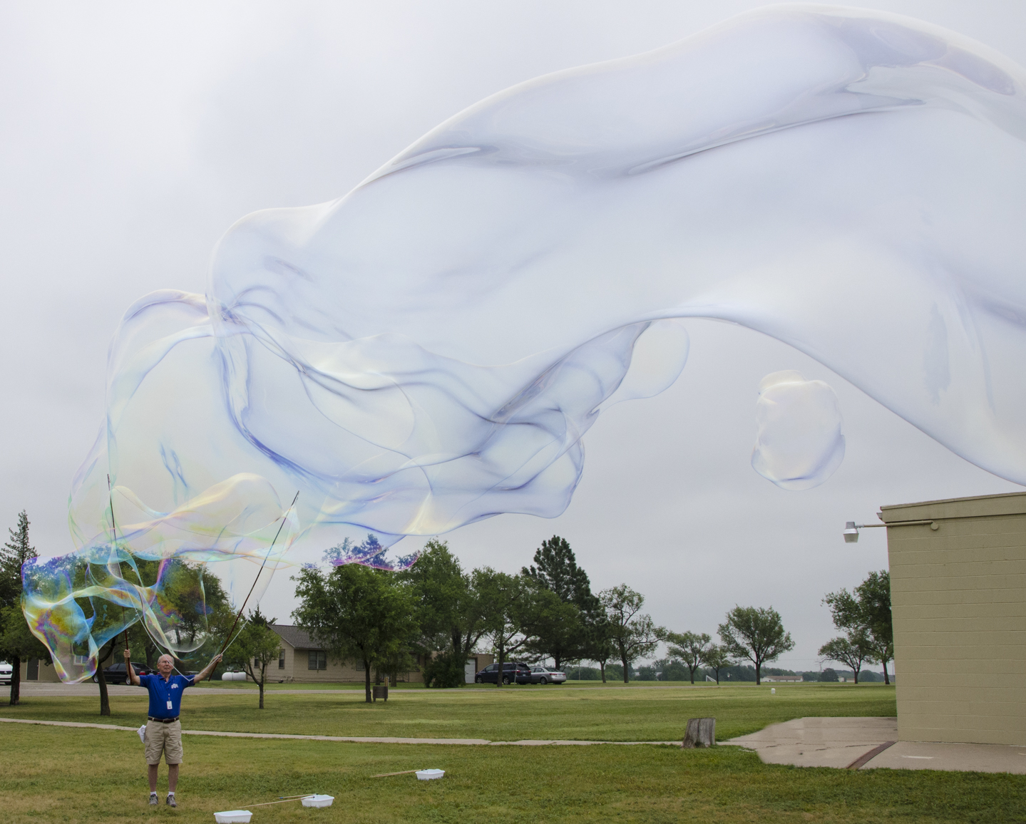 And then we make REALLY big bubbles