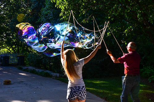 "Medium Bubble Wand(36"" top rope on 36"" sticks)"