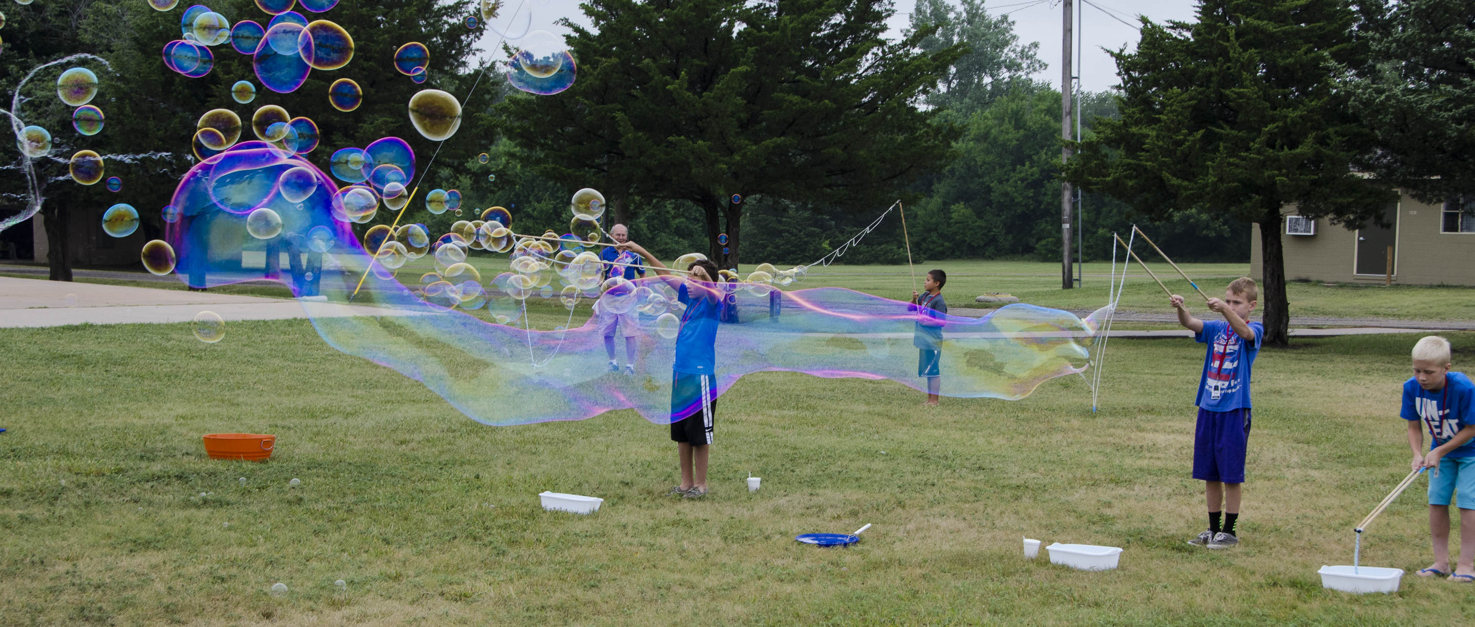 Children's Camp group bubbles