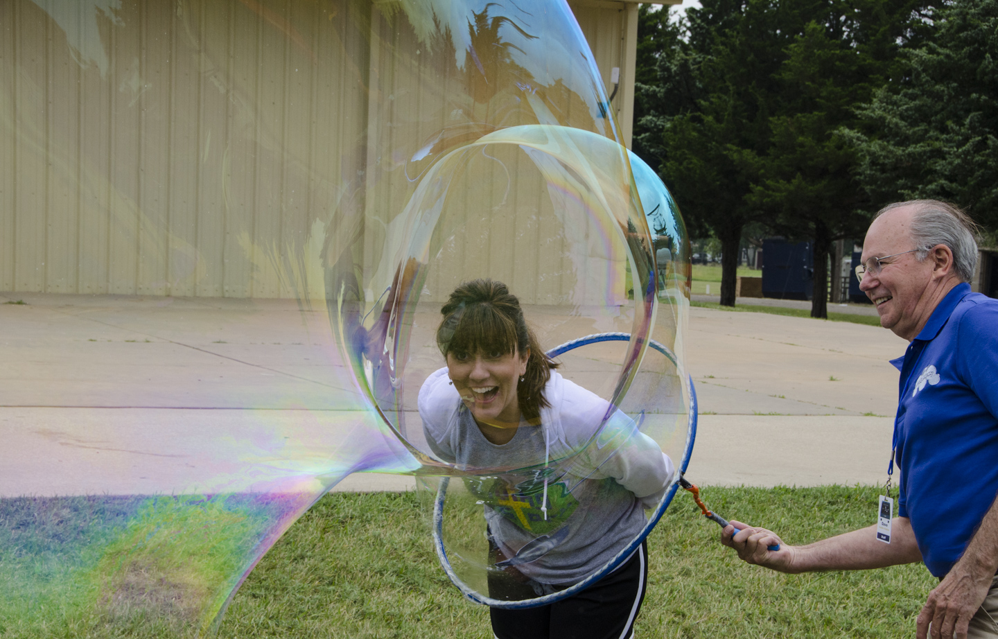 Head in a bubble