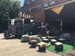 Vintage trailer, street food, loadin