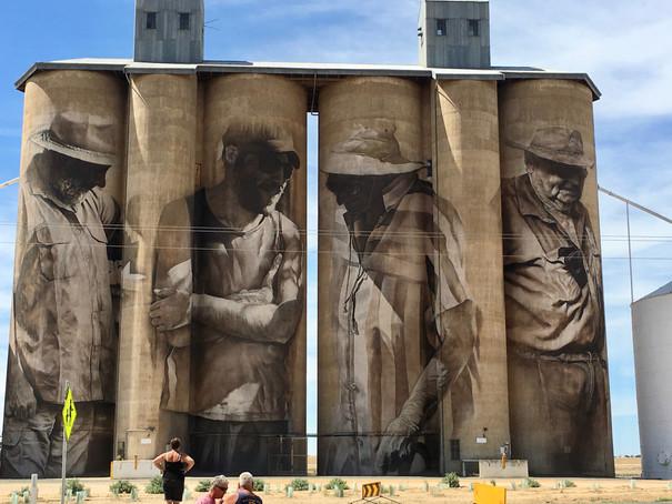 Portraits on Huge Grain Silos