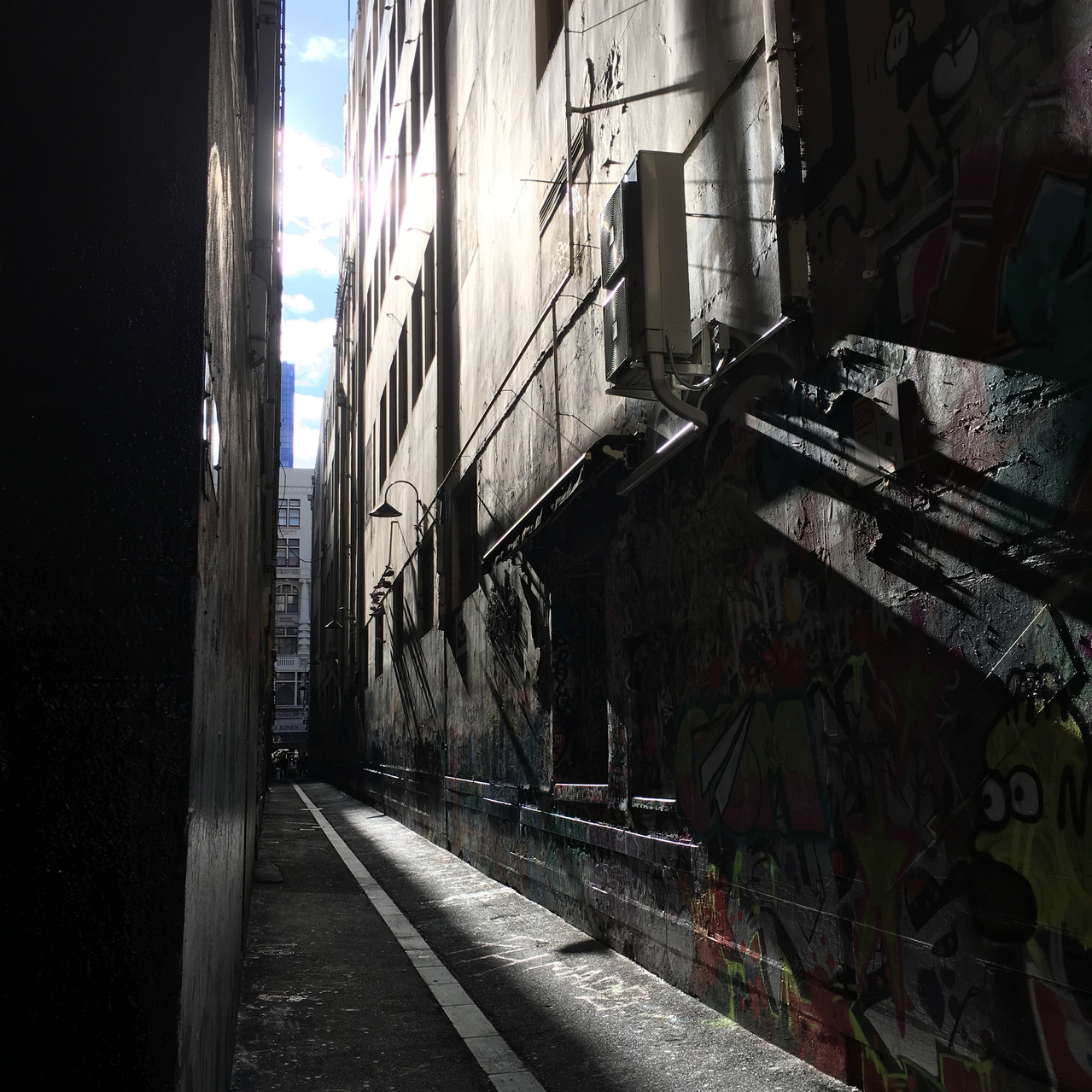 Union Lane in late afternoon hard light