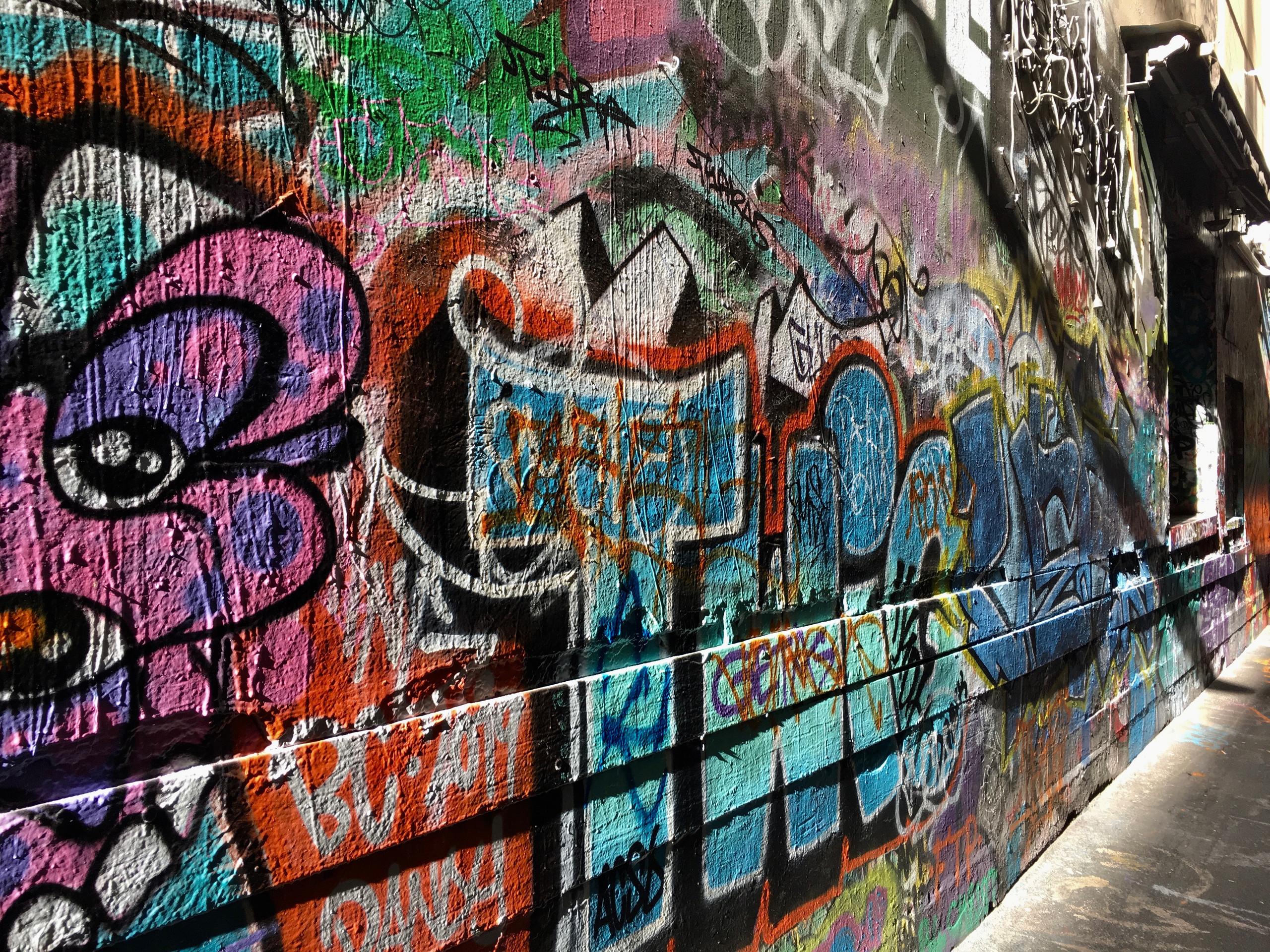 Graffiti wall | Union Lane