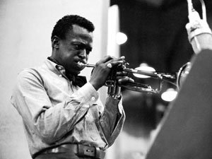 Kind of Blue recording sessions: Miles Davis playing trumpet