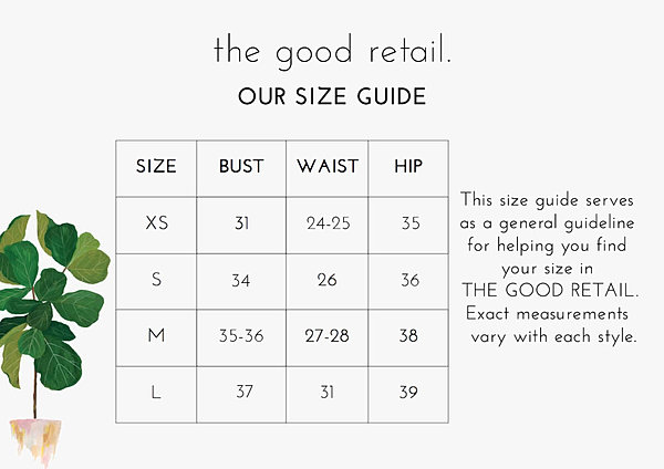 The Good Retail Size Chart