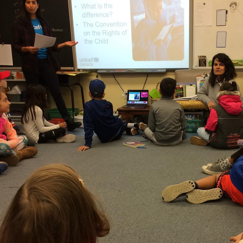 UNICEF presentation to Grade 4 class