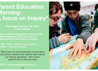 Parent Education Morning: A focus on Inquiry