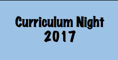 Curriculum Night is Next Week