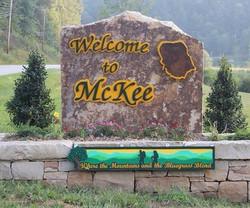 McKee Welcome Sign