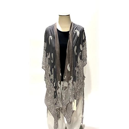 Grey Design Kimono