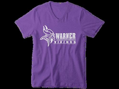 Warner Vikings purple super soft v-neck t-shirt