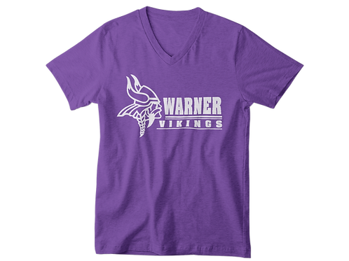 Warner Vikings purple super soft v-neck t-shirt