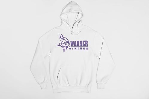 Warner Vikings White Unisex Hooded Sweatshirt