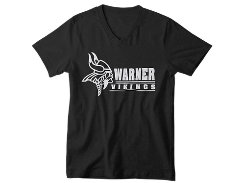 Warner Vikings black super soft v-neck t-shirt