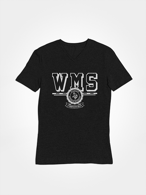 WMS black super soft v-neck t-shirt