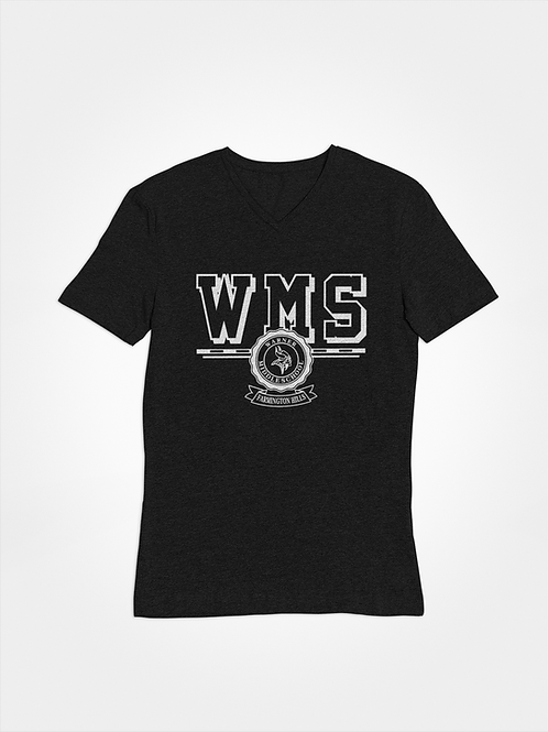 WMS black super soft v-neck t-shirt