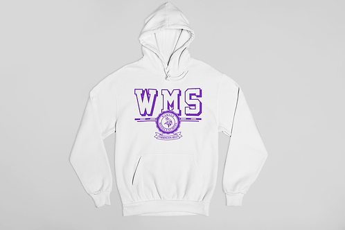 WMS White Unisex Hooded Sweatshirt