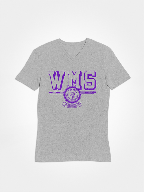 WMS grey super soft v-neck t-shirt