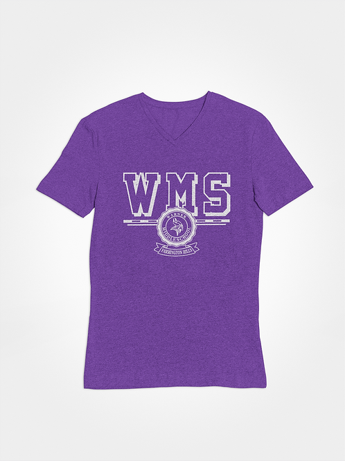 WMS purple super soft v-neck t-shirt