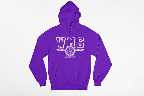 WMS Purple Unisex Hooded Sweatshirt