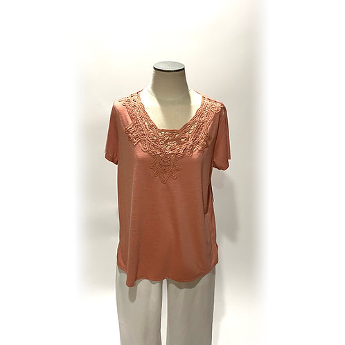 Coral Lace Tee