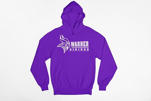 Warner Vikings Purple Unisex Hooded Sweatshirt