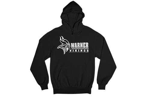 Warner Vikings Black Unisex Hooded Sweatshirt