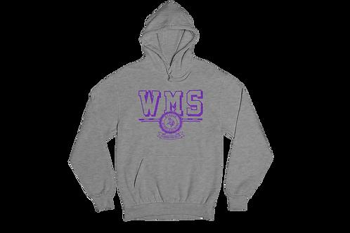 WMS Grey Unisex Hooded Sweatshirt