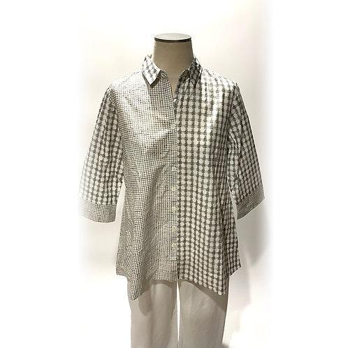 Cream and Tan Work Shirt