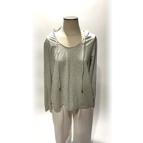 Grey Sweatshirt with Hood