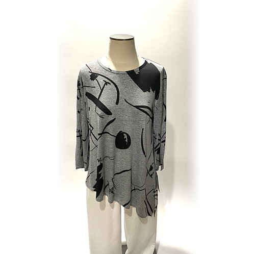 Grey Tunic with Black Design