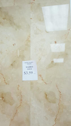Crema Marfil marble 24x24