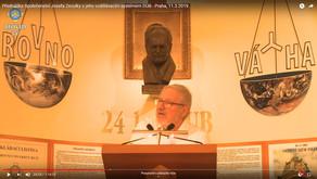 PŘEDNÁŠKA SPOLEČENSTVÍ JOSEFA ZEZULKY S JEHO VZDĚLÁVACÍM SYSTÉMEM DUB - Praha, 11.3.2019