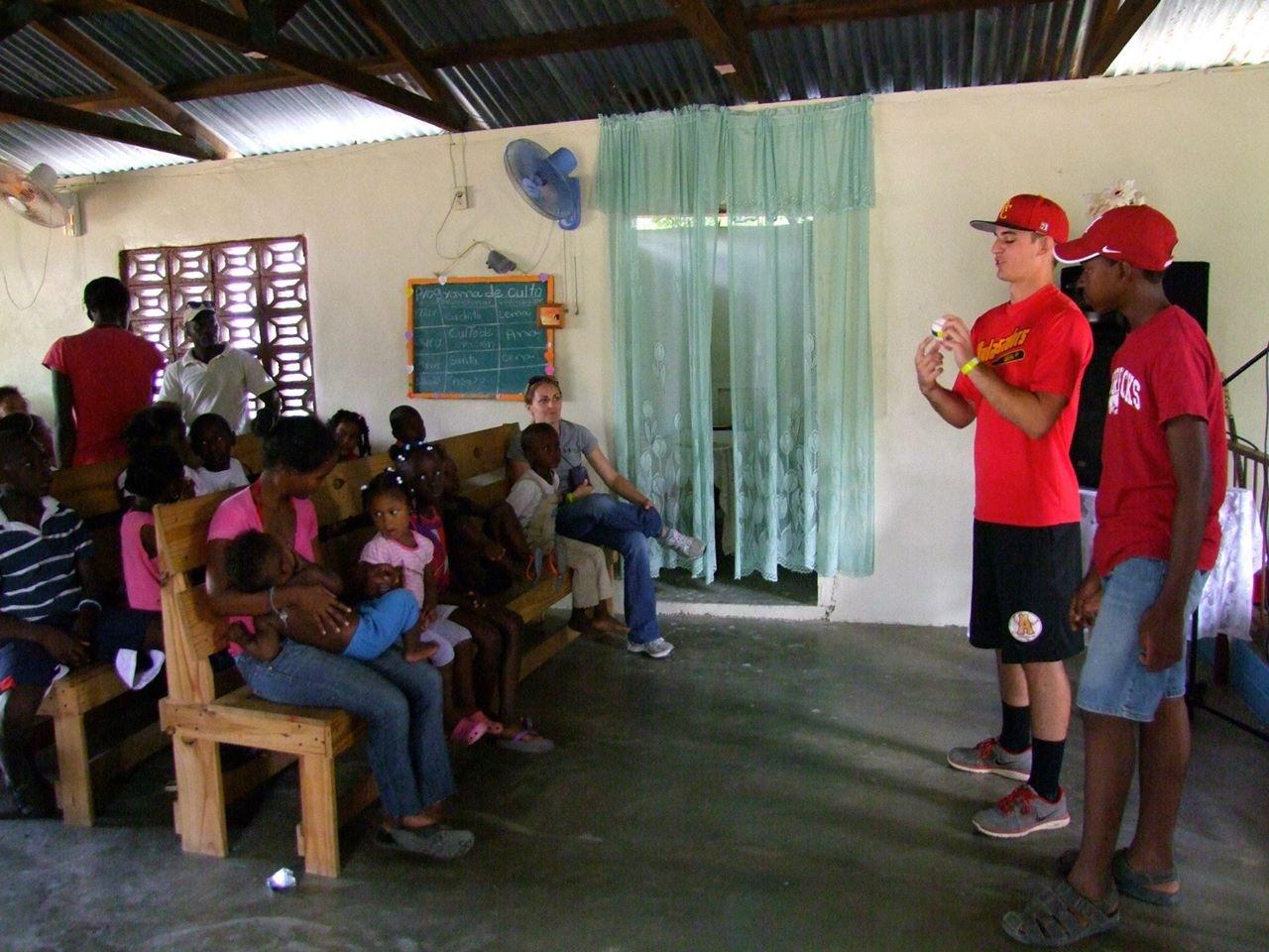 church at haitian batey