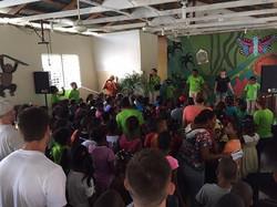 kids at vacation bible school