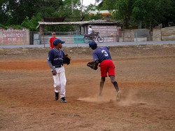 kids in the dominican playing ball