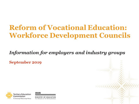 Workforce Development Councils: An update from TEC