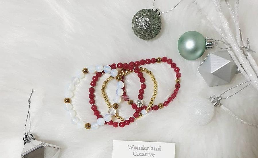 Christmas Theme Gemstone Bracelets