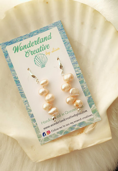 Pink Freshwater Pearl Drops