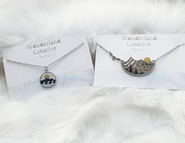 Ocean and Mountain Necklaces