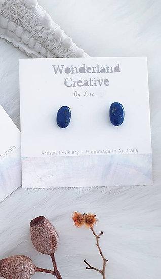 Lapis Lazuli Mini Nugget Studs