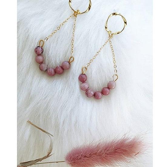 Rhodonite Swing Earrings