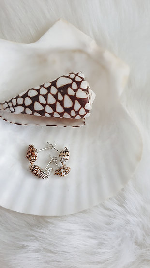 Mini Conch Stud Earrings