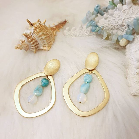 """Portofino"" Luxe Gold and Nugget Earrings"